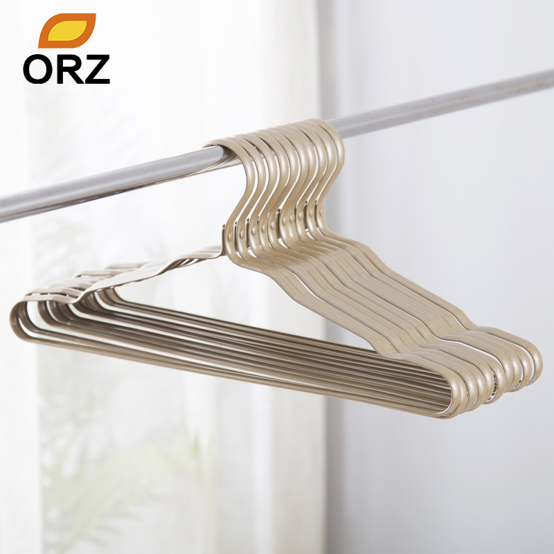ORZ 16Inch Gold Metal Clothes Hanger Aluminium Alloy Closet Hanger Adult Skirt Dress Scarf Coat Suit  Dress Hanger