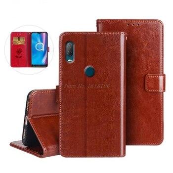 Перейти на Алиэкспресс и купить Чехол для телефона Alcatel 1V 2020, Специальный флип-чехол из искусственной кожи с подставкой для телефона 5007U 5007A, силиконовый чехол для Alcatel 1V 2020