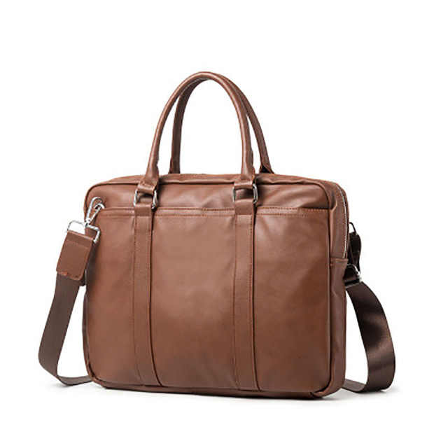 YICIYA new business bag leather fashion section youth shoulder Messenger bag Korean version of the men's briefcase