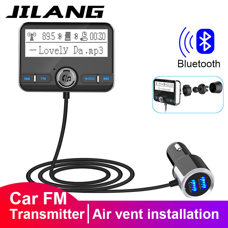 Jilang <font><b>Bluetooth</b></font> <font><b>FM</b></font> <font><b>Transmitter</b></font> Wireless Car <font><b>FM</b></font> Modulator Car <font><b>Mp3</b></font> <font><b>Player</b></font> Car Kit Handsfree <font><b>Bluetooth</b></font> Car Charger with <font><b>LCD</b></font> Displa image