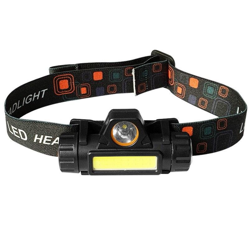 Tragbare mini Leistungsstarke LED Scheinwerfer XPE + COB USB Aufladbare Scheinwerfer Eingebaute Batterie Wasserdichte Kopf Taschenlampe Kopf Lampe dropship
