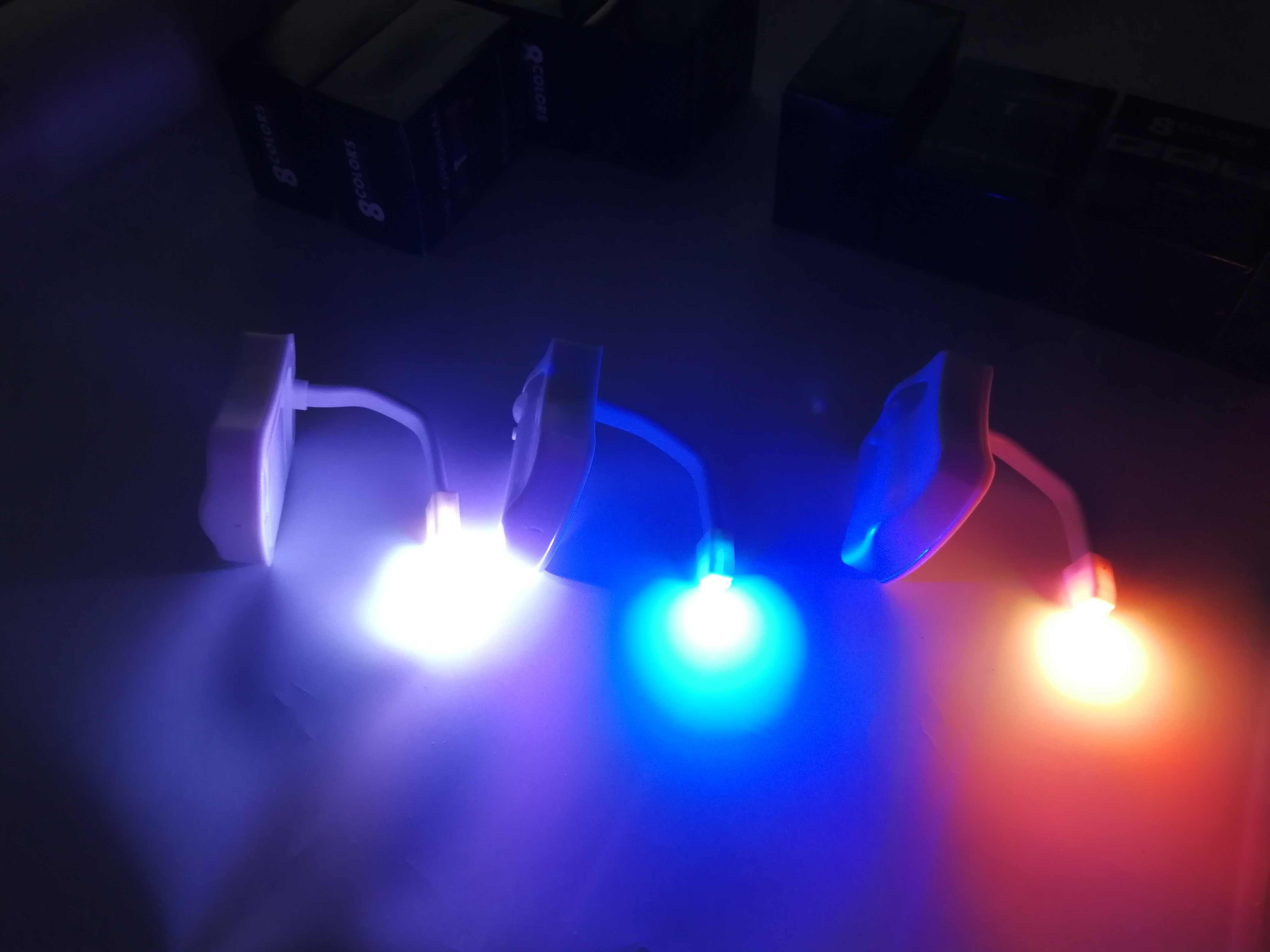 LED veilleuse PIR capteur de mouvement 8 couleurs changement automatique lampe de toilette