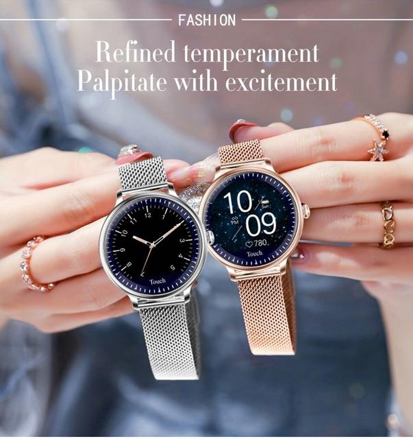 IOS Android Compatible IP67 Waterproof Women Smart Watch