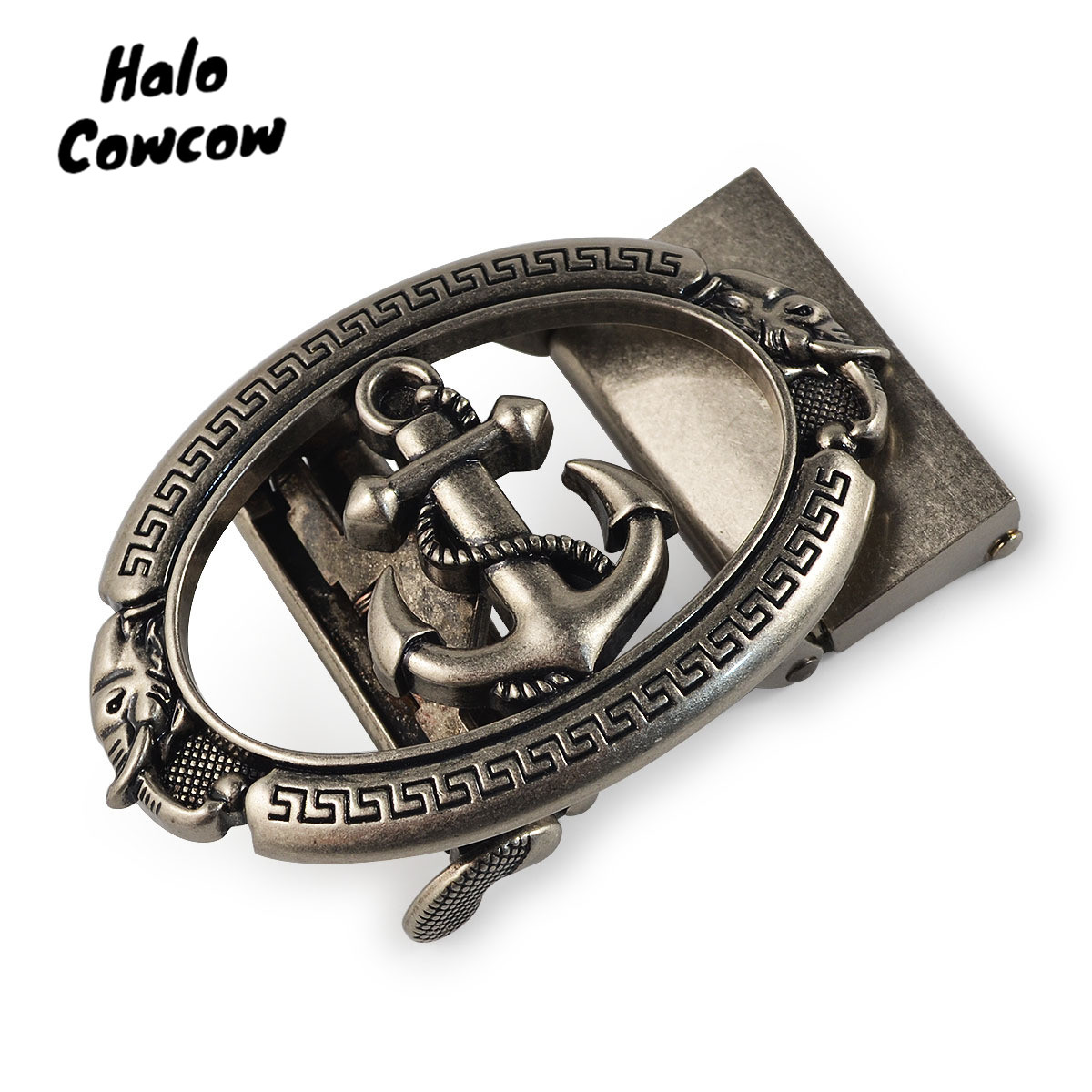 Vintage Metal Buckle Without The Belt For The 3.5cm Belt Automatic Buckle Head Gold Anchor Wolf Bull Eagle Kangaroo Lion Horse
