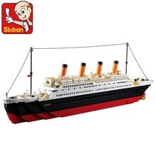 Model building kits Legoingly city Titanic RMS cruise ship 3D blocks Educational model building toys hobbies for children все цены