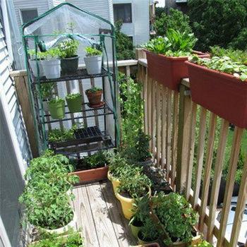 Rośliny rosną torby Mini szklarnia ogród sadzonka zielony dom pcv z tworzywa sztucznego pokrywa przezroczysty ogród szklarnia rosną dom sadzenia tanie i dobre opinie Other Garden Tier Greenhouse high-quality PVC 69*49*92cm 69*49*126cm 69*49*155cm 69*49*187cm