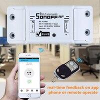 Sonoff rf sem fio para automação residencial  rf  automação inteligente 433mhz  módulo do interruptor remoto para sonoff rf