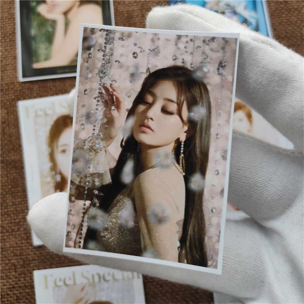 16 adet/takım Kpop iki kez fotocard hissediyorum özel yeni albüm fotoğraf kartı yeni gelenler Kpop iki kez 2020 sezon tebrik kartları