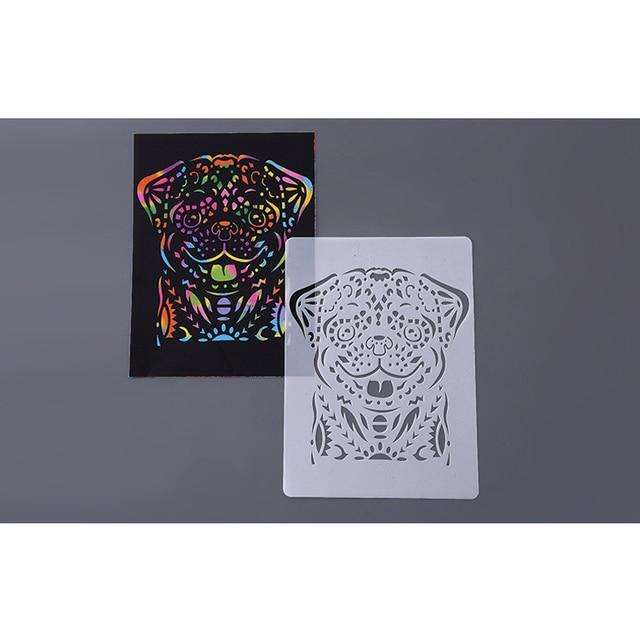 Disegno a mano Stencil Strumenti Giocattolo Per Bambini FAI DA TE Foto Della Novità Giocattolo Educativo Vari Stili Rifornimenti di Arte Creativa Giocattolo Per I Bambini 4