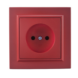 2019 new socket Rose Red Euro Wall Socket without earth 250V 10A Power Supply Wall Mount Decorative DIY socket livolo EP-07