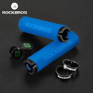 ROCKBROS Bicycle Grips MTB Sponge Handlebar Grips Anti-skid Shock-absorbing Soft Bike Grips Ultraight Cycling Handlebar