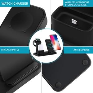 Image 5 - Fdgao 3 in 1 충전 스탠드 iphone 11 pro x xs xr 8 airpods apple watch 5 4 3 2 1 10 w 고속 qi 무선 충전기 독 스테이션