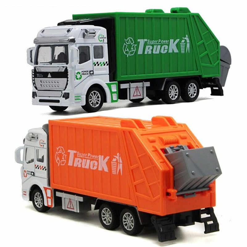 Tomica الاطفال اللعب عربة مواصلات الأخضر orange القمامة سكانيا شاحنة سيارة نموذج الهندسة الصرف الصحي شاحنة الأولاد هدية الكريسماس
