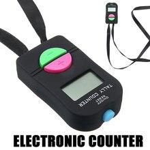 Цифровой счетчик Черный abs ЖК дисплей Электронная цифра ручной
