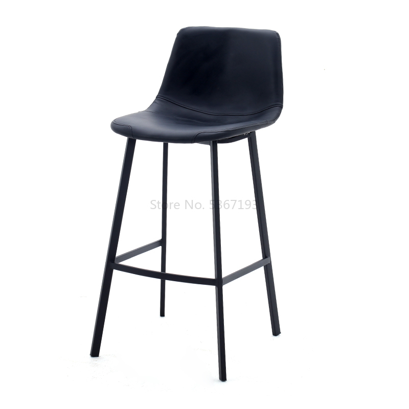 Northern Europe  Bar Chair  Leisure Time Wrought Iron Stool Backrest Metal Bar Chair Commercial Furniture