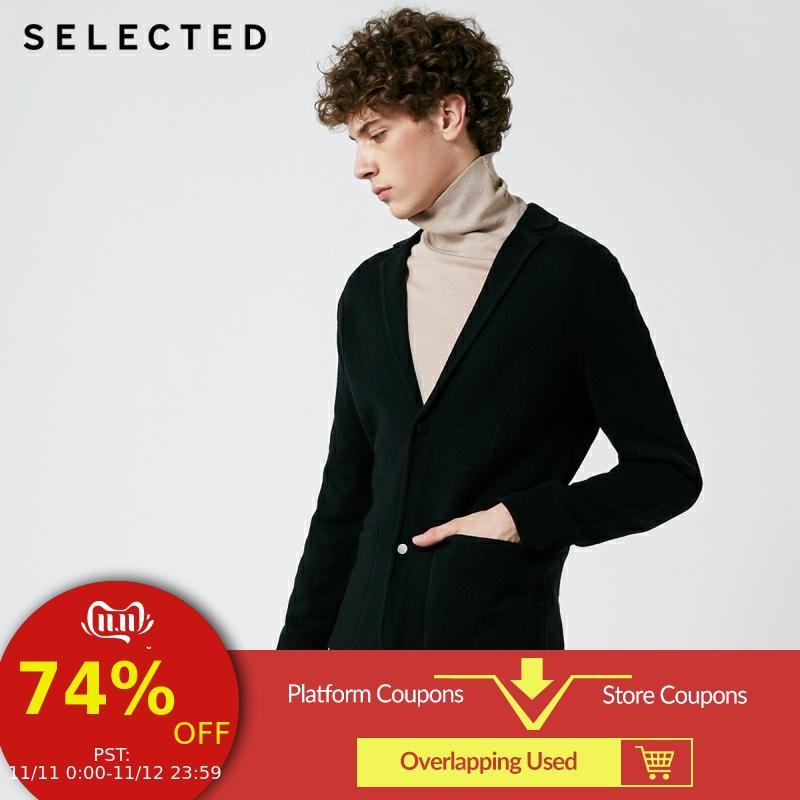 SELECTED Autumn And Winter New Men's Suit Collar Regular Fit Cardigan Sweater S |418425542