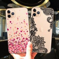 В виде влюбленного сердца розы сексуальное кружевное платье с цветочным рисунком Чехол для мобильного телефона для iPhone 12 11 Pro XS Max X XR 6S 8 7 Plus 5S...