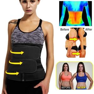 Image 2 - Waist Corset Trainer Sauna Sweat Sport Girdles Cintas Modeladora Women Lumbar Shaper Workout Trimmer Shapewear Slimming Belt