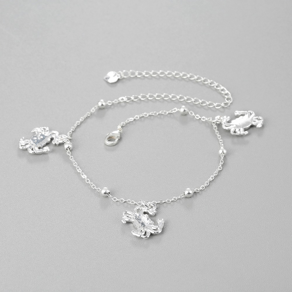 Todorova Crab Cat Paw Anklets for Women Foot Accessories Summer Beach Barefoot Sandals Bracelet ankle on the leg Female Ankle 1
