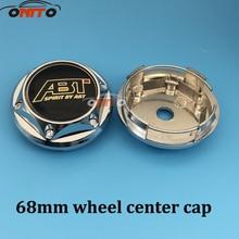 Base Center-Caps Wheel-Hub Abt-Logo-Emblem Chrome 68mm 4PCS ABS for Auto-Hubcaps-Cover