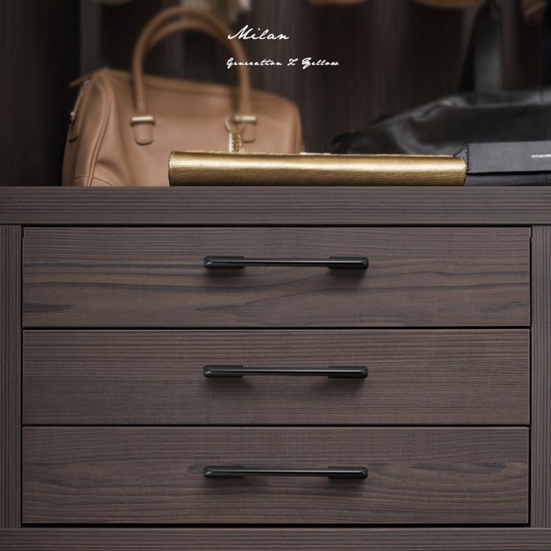 Купить с кэшбэком WV American Kitchen Cabinet Door Handles 600MM Black Orange Gold Cabinet Door Knobs Cabinet Drawer Pulls Furniture Hardware 299
