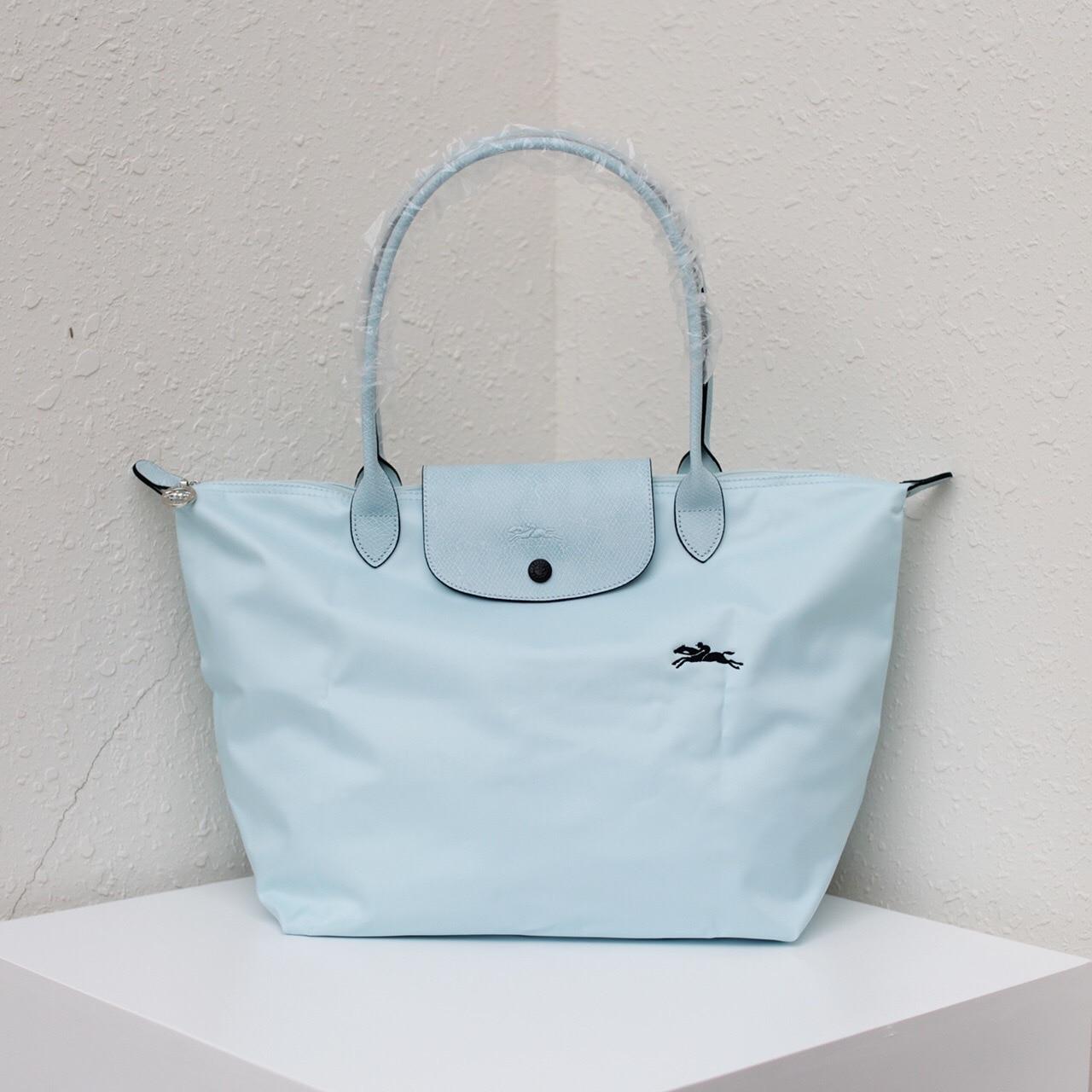 Işlemeli at taşınabilir tek omuz hamur çanta Oxford kumaş ile inek derisi hamur çanta su geçirmez Tote banliyö kadın çantası