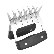 Cooking-Tool Bbq-Meats-Splitter Claw Barbecue-Fork Silicone-Handle Stainless-Steel Kitchen