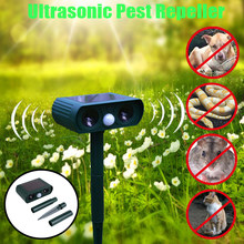 1Pc Ultrasonic Pest Repellers Solar Energy Dog Cat Bird Boar Mouse Mosquito Rechargeable Animal Repeller Fly Trap Repeller(China)
