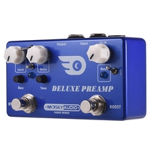 Mosky Deluxe Preamp Guitar Effect Pedal 2 In 1 Boost Classic Overdrive Effects Metal Shell With True Bypass Guitar Accessories mooer full metal shell effects micro hustle drive distortion guitar effect pedal with 2 working modes true bypass