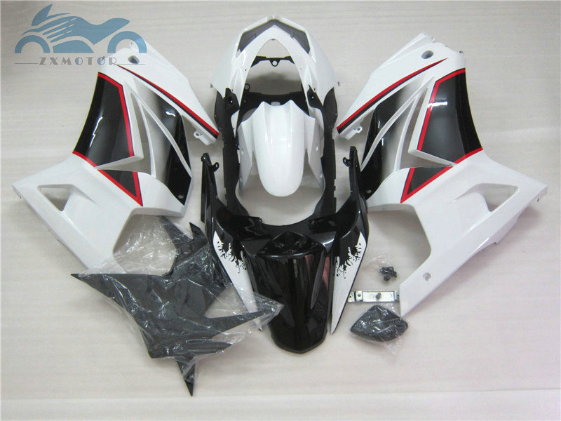 OEM quality Injection fairing kits for Kawasaki Ninja 250R 2008 2014 ZX250R motorcycle fairings set EX 250 08 14 white black