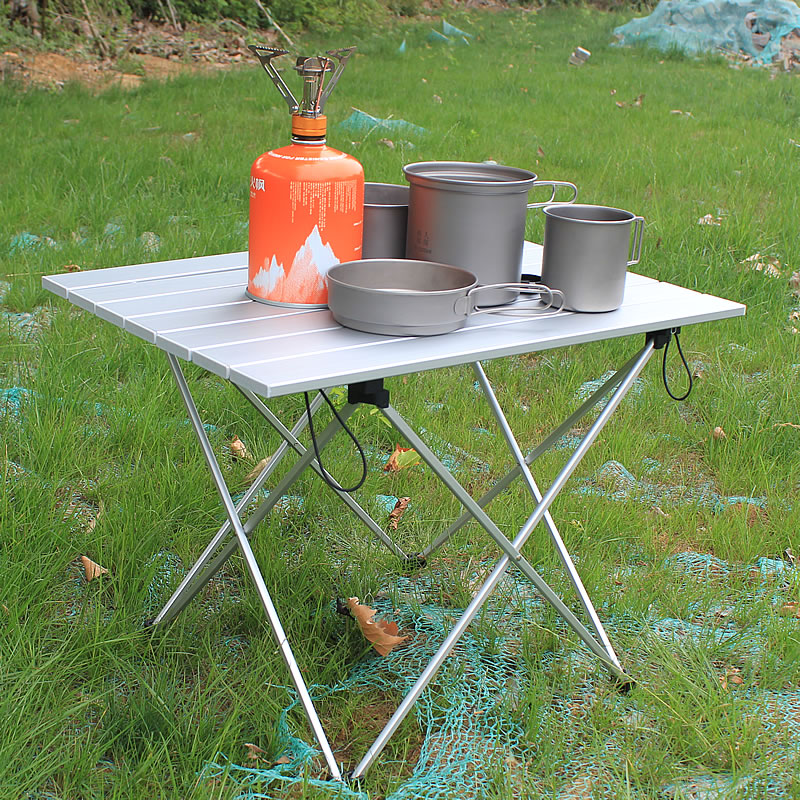 Portable Table Foldable Folding Camping Hiking Desk Traveling Outdoor Picnic New Blue Gray Pink Black Al Alloy Ultra-light