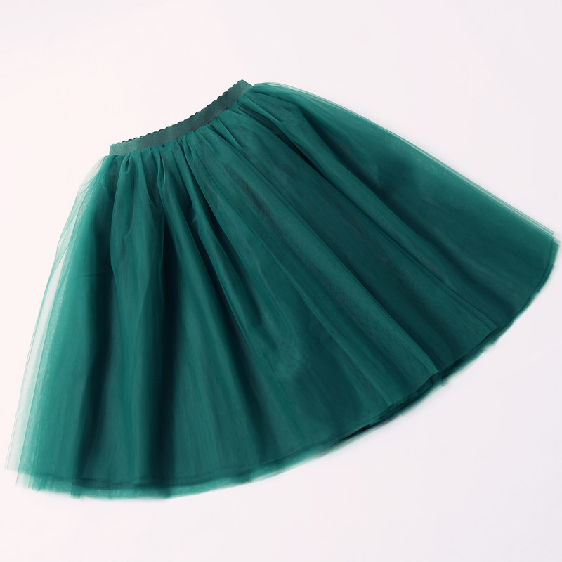5 Layers 65cm Black Pleated skirt Sexy Midi Tulle skirt High Waist Full Lining Adult Tutu