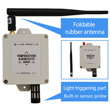 Temperatur und Feuchtigkeit Sensor Drahtlose Lange Bereich Temperatur Feuchte Datenlogger 433/868/915mhz Hygrometer Thermometer