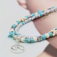 New Fashion Bohemian Style Leisure Bracelet Foot Chain Irregular Turquoises Jewelry Accessories Gift for Women 7.5inch M357(China)