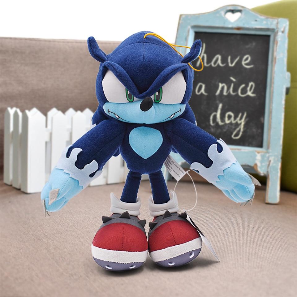 Sonic The Hedgehog Shadow Sonic Plush Doll Stuffed Figure Soft Toy 10 Inch Gift
