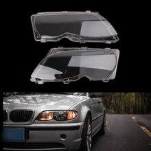 Бесплатная доставка, Лидер продаж, новинка, 2 шт., автомобильная фара головного света, левая и правая фара, защитный чехол для BMW E46 4 DR