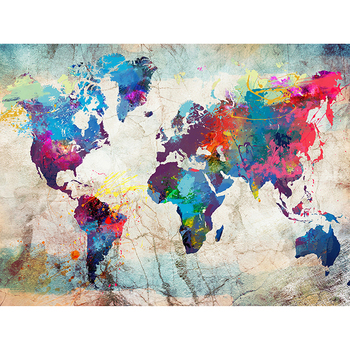 DIY Painting By Numbers World Map Oil Coloring By Numbers Modern 40x50cm Wall Art Canvas Picture Hand Painted Home Decor Gift gatyztory frameless picture diy painting by numbers animals modern picture canvas by numbers for home wall art decors 40x50cm