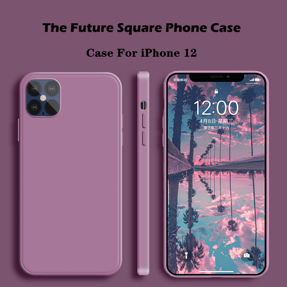 Liquid Silicone Phone Case For iPhone 12 11 Pro Max Original Official Soft Case For iPhone XR XS Max 7 8 Plus SE 2020 Cover Case