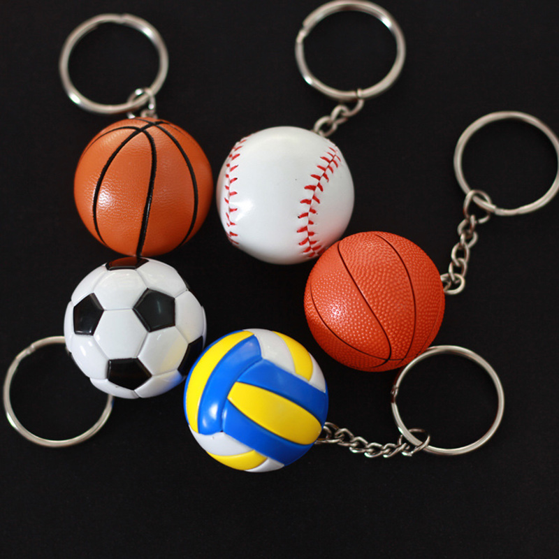 Men's Basketball Key Chain Ball Fashion Baseball Soccer Keychain Football Volleyball Key ring Phone Bag Car Pendant Fun Keychain