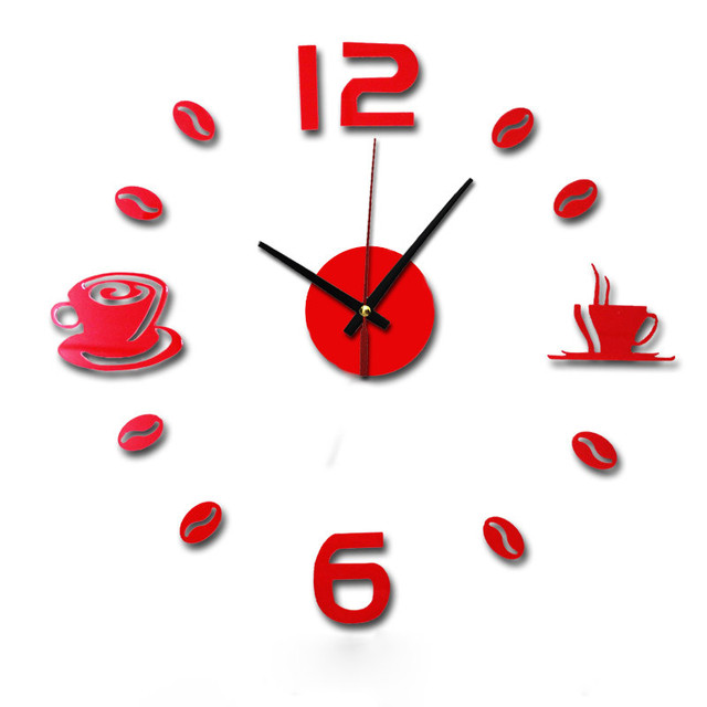 New Hot Clock Watch Wall Clocks Horloge 3d Diy Acrylic Mirror Stickers Home Decoration Living Room Quartz Needle reloj de pared 2