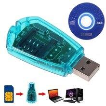1 pçs novo usb leitor de cartão sim escritor simcard/cópia/cloner/backup gsm cdma wcdma celular leitor acessórios do telefone móvel