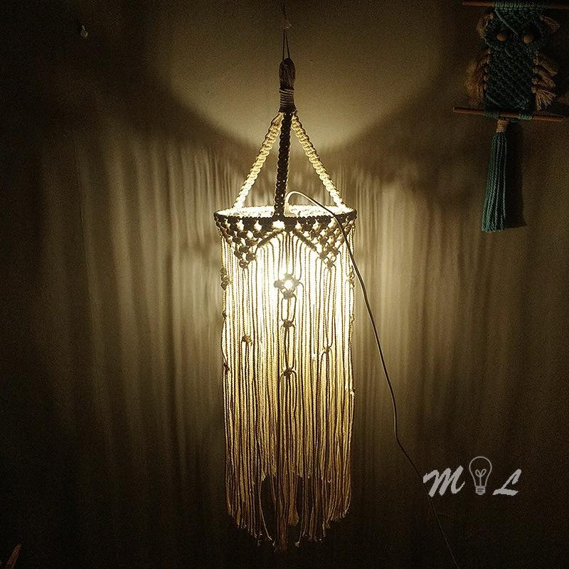 Nordic Ins Pendant Lamp Bohemian Hand-make Ceiling Hanging Lamps Living Room Home Deco Loft Pendant Light Room Lights Luminaire
