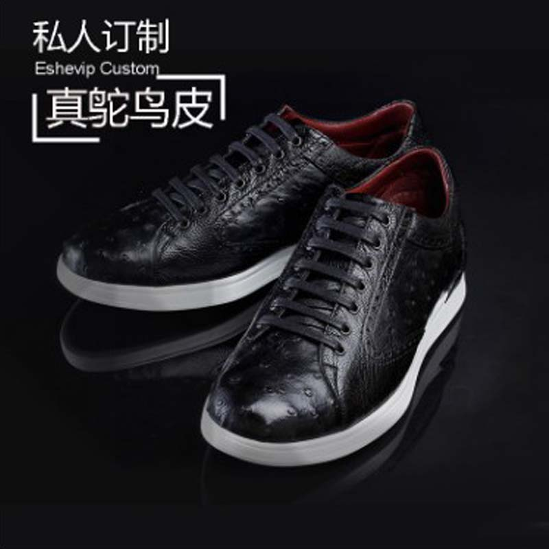 Ourui New  True  Ostrich Leather  Leather Men's Shoes  Sandals  Genuine Leather  Sports Shoes Men Shoes