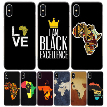 Africa Map Geography Painted Phone Case For Apple IPhone 11 12 Pro Mini XR X XS Max 7 8 6 6S Plus + 7G 6G 5 SE 2020 Luxury Patte image