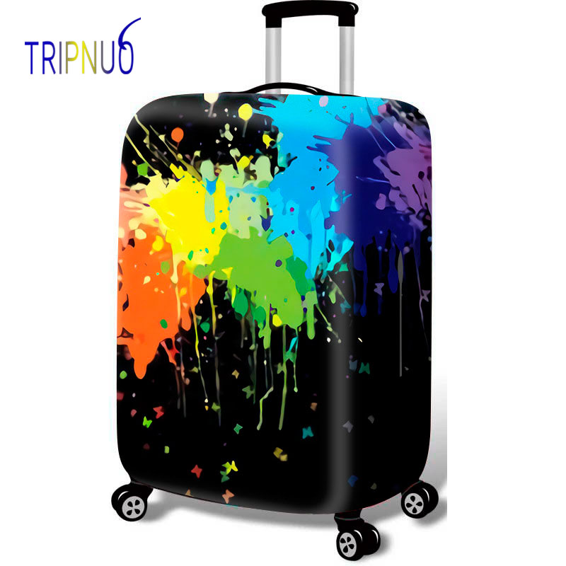 TRIPNUO Colorful Thicken Luggage Protective Cover 18-32inch Trolley Baggage Travel Bag Covers Elastic Protection Suitcase Case
