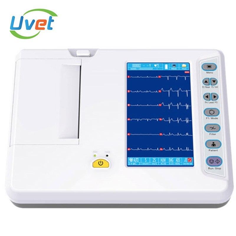 Увет ветеринарное оборудование для анализа патологий 12 цифровой 6-канальный ЭКГ машина для стоматологов патологическая анализатор