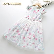 LOVE DD&MM Girls Dresses 2020 Summer New Childrens Wear Girls Sweet Flower butterfly Splice Dress