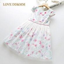 LOVE MM DD & vestidos para niñas, novedad de verano, ropa para niños, vestido con empalme de mariposa y flores, 2020