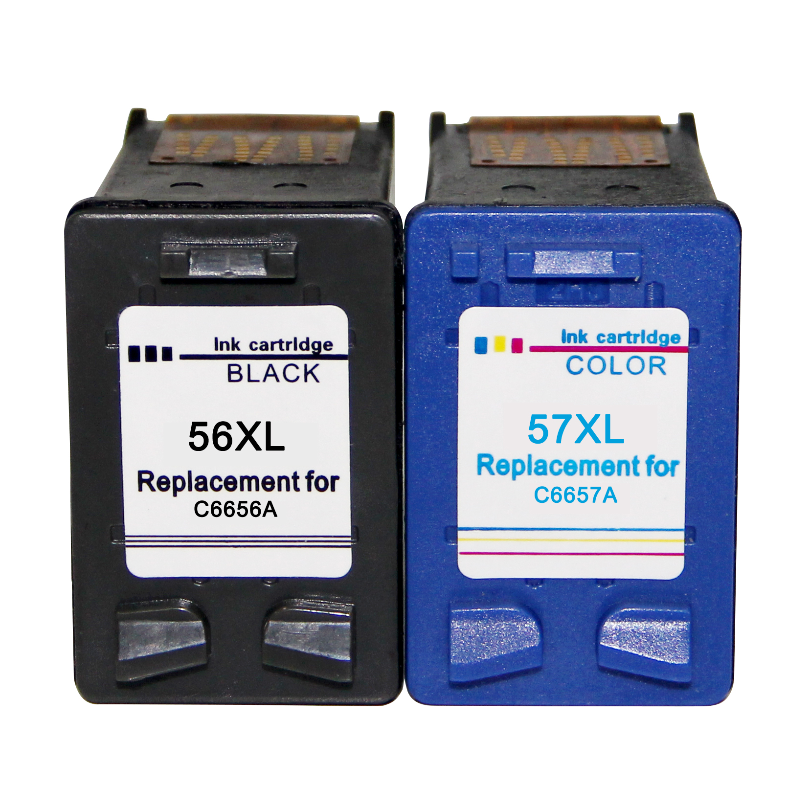 56 XL Black 57 XL Color Ink <font><b>Cartridge</b></font> Replacement for <font><b>HP</b></font> 56 57 HP56 HP57 Deskjet 2100 220 450 5510 <font><b>5550</b></font> 5552 7150 7350 image