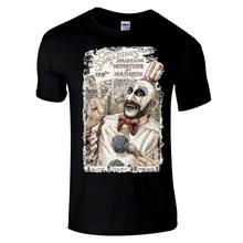 Capitão spaulding premium preto regular ajuste horror t camisa por william anderson legal casual orgulho t camisa dos homens unisex novo